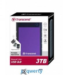 Transcend StoreJet 2.5 USB 3.0 3TB серия H Purple