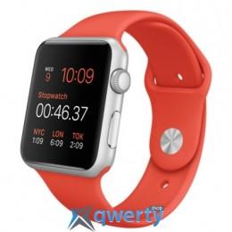 Apple Watch MLC42 42mm Silver Aluminium Case with Orange Sport Band