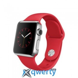 Apple Watch MLLD2 38mm Stainless Steel Case with Product RED Sport Band