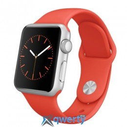 Apple Watch MME92 38mm Silver Aluminum Case with Red Sport Band