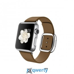 Apple Watch 38mm Stainless Steel Case with Brown Modern Buckle Size L (MJ3D2)