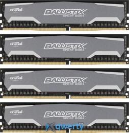 DDR4 32GB (4x8GB) 2400 MHz BallistiX Sport MICRON (BLS4K8G4D240FSA)