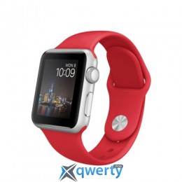 Apple Watch MMED2 42mm Silver Aluminum Case with Red Sport Band