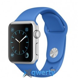 Apple Watch MMF22 38mm Silver Aluminum Case with Royal Blue Sport Band