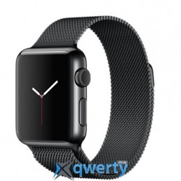 Apple Watch MMFK2 38mm Space Black Stainless Steel Case with Space Black Milanese Loop
