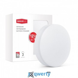 MAXUS LED настенно-потолочный 12W мягкий свет (1-LCL-001-07-C)