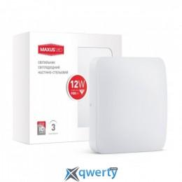 MAXUS LED настенно-потолочный 12W яркий свет (1-LCL-002-04-S)