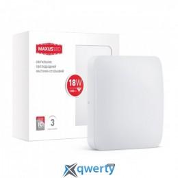MAXUS LED настенно-потолочный 18W мягкий свет (1-LCL-003-04-S)