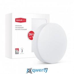 MAXUS LED настенно-потолочный 24W мягкий свет (1-LCL-005-07-C)