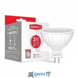 MAXUS MR16 3W яркий свет 220V GU5.3 AP (1-LED-510)