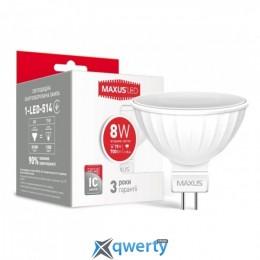 MAXUS MR16 8W мягкий свет 220V GU5.3 (1-LED-515)