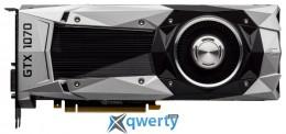 Gigabyte PCI-Ex GeForce GTX 1070 Founders Edition 8192MB GDDR5 (256bit) (1506/8000) (DVI, HDMI, 3 x Display Port) (GV-N1070D5-8GD-B)