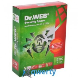 DR. WEB SECURITY SPACE 10, 2 ПК 1 ГОД (BHW-B-12M-2-A3)