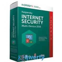 KASPERSKY INTERNET SECURITY 2016 MULTI-DEVICE 2+1 ПК 1 ГОД RENEWAL BOX (KL1941OBBFR16)