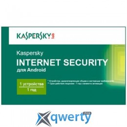 KASPERSKY INTERNET SECURITY FOR ANDROID 1-PDA 1 YEAR BASE CARD (KL1091OOAFS16)