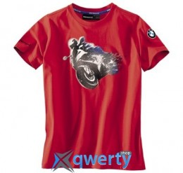 Детская футболка BMW Motorrad Logo T-Shirt in Red, Children (р.146-152)(76618547945)