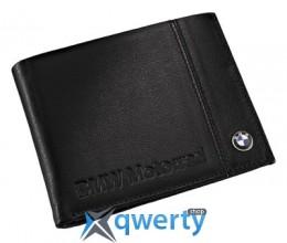 Кожаный кошелек BMW Motorrad Logo Wallet, Black (76618547360)