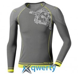 Мужская майка с длинным рукавом BMW Motorrad Men's Summer Functional Undergarments, Longsleeve Shirt, Gray (р.L)(76248553508)