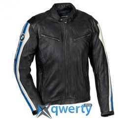 Мужская мотокуртка BMW Motorrad Club Leather Jacket, Black/White (р.XL)(76128553494)