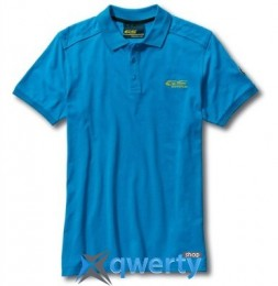Мужская рубашка-поло BMW Motorrad GS Adventure Polo-shirt, for Men, Light Blue,(р.L)(76818561198)