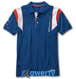 Мужская рубашка-поло BMW Motorrad Motorsport Polo-shirt, for Men, Blue (р.L)(76628560940)