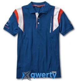 Мужская рубашка-поло BMW Motorrad Motorsport Polo-shirt, for Men, Blue (р.L)(76628560940)