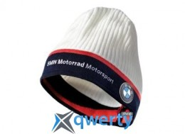 Вязаная шапка BMW Motorrad Knited Beanie Motorsport, White (76628551748)