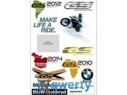 Комплект наклеек BMW Motorrad Style GS Stickers Set (76818561291)