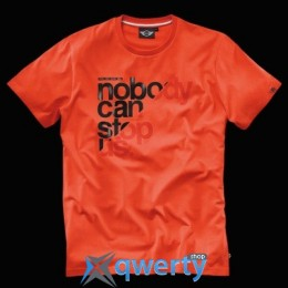 Мужская футболка Mini Men's T-Shirt, Unstoppable, Orange (р.L)(80142288455)
