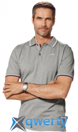Мужская рубашка-поло BMW Collection Men's Polo Shirt grey (р.XL)(80142339194)