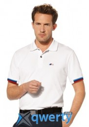 Мужская рубашка-поло BMW M Men's Polo Shirt White (р.ХL)(80142344353)