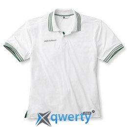 Мужская рубашка-поло BMW Men's Functional Golfsport Polo Shirt White (р.L)(80142318416)