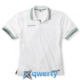 Мужская рубашка-поло BMW Men's Functional Golfsport Polo Shirt White (р.L)(80142318416)