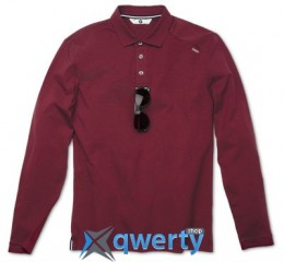 Мужская рубашка-поло BMW с длинным рукавом, BMW Long-Sleeve Polo Shirt, men, Bordeaux (р.S)(80142285206)