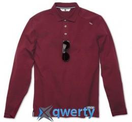 Мужская рубашка-поло BMW с длинным рукавом, BMW Long-Sleeve Polo Shirt, men, Bordeaux (р.S)(80142285206)