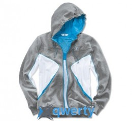Толстовка унисекс BMW i Unisex Hooded Jacket, Grey/White/Blue (р.M)(80142359282)