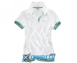 Женская футболка BMW Golfsport Polo Shirt, ladies, White/Green(р.M)(80142285699)