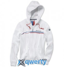 Женская куртка BMW Motorsport Sweat Jacket, ladies, White (p.S)(80142285810)