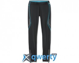 Женские спортивные штаны BMW Athletics Sports Tights, long, ladies, Black - Ocean Blue (80142361122)