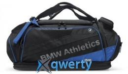 Спортивная сумка BMW Athletics Performance Sports Bag, Black/Royal Blue (80222361132)