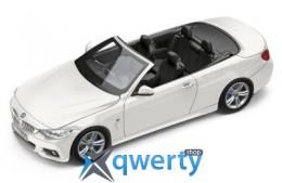 Модель автомобиля BMW 4 серии Кабриолет (F33), Alpine White, Scale 1:43(80422336867)