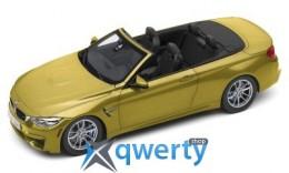 Модель автомобиля BMW M4 Кабриолет (F83), Austin Yellow, Scale 1:18(80432339611)