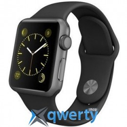 Apple Watch MJ2X2 38mm Silver Aluminum Case with Black Sport Band