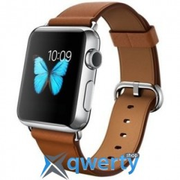 Apple Watch MMF72 38mm Stainless Steel Case with Saddle Brown Classic Buckle