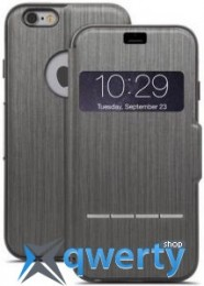 Moshi Sensecover Touch Sensitive Flip Case Steel Black for iPhone 6/6S (99MO072004)