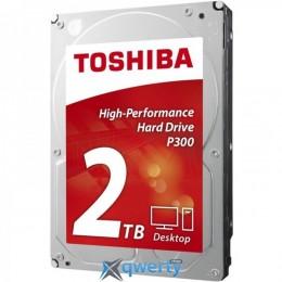 HDD SATA 2.0TB Toshiba P300 7200rpm 64MB (HDWD120UZSVA)