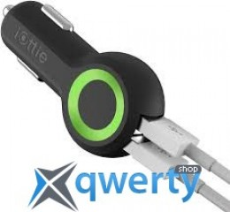 iOttie Rapid VOLT Max Dual Port USB Car Charger Black (5 A) (CHCRIO104BK)