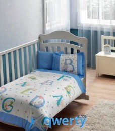 TAC Sweet Animals Baby Blue Ранфорс