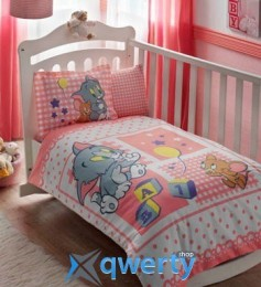 TAC Tom and Jerry Baby Pink Ранфорс