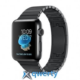 Apple Watch Series 2 42mm Space Black Stainless Steel Case with Space Black Link Bracelet Band (MNQ02)